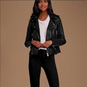 7 For All ManKind moto genuine leather jacket NWT
